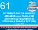 61 – INTERVENTO DELL'ON. MAURIZIO  BERNARDO ALLA CAMERA DEI  DEPUTATI SUL DOCUMENTO DI ECONOMIA E FINANZA 2013 (DEF)