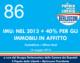 86 – IMU: NEL 2012 + 40% PER GLI IMMOBILI IN AFFITTO