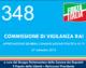 348 – COMMISSIONE DI VIGILANZA RAI (APPROVAZIONE DELIBERA COMUNICAZIONE POLITICA IN TV)