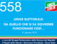 558 – LEGGE ELETTORALE: DA QUELLO CHE SI SA DOVREBBE  FUNZIONARE COSÌ…