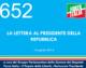 652 – LA LETTERA AL PRESIDENTE DELLA REPUBBLICA