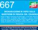 667 – DICHIARAZIONE DI VOTO SULLA QUESTIONE DI FIDUCIA ON. CHIARELLI