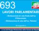 693 – LAVORI PARLAMENTARI. ON. D'ALESSANDRO – ON. PALMIERI
