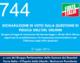 744 – DICHIARAZIONE DI VOTO SULLA QUESTIONE DI FIDUCIA DELL'ON. GELMINI