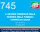 745 – IL GRANDE IMBROGLIO DELLA  RIFORMA DELLA PA