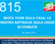 815 – BASTA TASSE SULLA CASA: LA  NOSTRA BATTAGLIA SULLA LEGGE  DI STABILITÀ