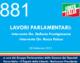 881- LAVORI PARLAMENTARI: -Intervento On. Stefania Prestigiacomo -Intervento On. Rocco Palese