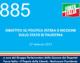 885 – DIBATTITO SU POLITICA ESTERA E RISOLUZIONE SULLO STATO DI PALESTINA