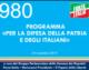 980 – PROGRAMMA PER LA DIFESA DELLA PATRIA E DEGLI ITALIANI