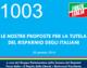 1003 – LE NOSTRE PROPOSTE PER LA TUTELA DEL RISPARMIO DEGLI ITALIANI