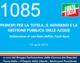 1085 – PRINCIPI PER LA TUTELA, IL GOVERNO E LA GESTIONE PUBBLICA DELLE ACQUE Dichiarazione di voto finale dell'On. Carlo Sarro