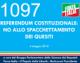1097 – REFERENDUM COSTITUZIONALE: NO ALLO SPACCHETTAMENTO DEI QUESITI