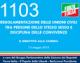 1103 – Regolamentazione delle unioni civili tra persone dello stesso sesso e disciplina delle convivenze