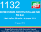 1132 – REFERENDUM COSTITUZIONALE NEI TG RAI I dati AgCom 20 aprile – 6 giugno 2016