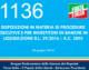 1136 – Disposizioni in materia di procedure esecutive e per investitori in banche in liquidazione