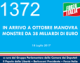 1372 – In arrivo a ottobre manovra monstre da 38 miliardi di euro
