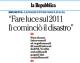 """Intervista al Presidente Brunetta su 'la Repubblica': """"Fare luce sul 2011, lì cominciò il disastro"""""""